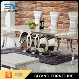 Hogar muebles modernos de Europa juego de mesa de comedor mesa de mármol Restaurante