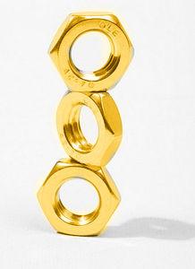 DIN439 Hex écrou mince avec zinc jaune