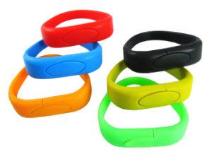 Основная часть пользовательских силиконовый браслет на запястье ленточный накопитель USB дисков