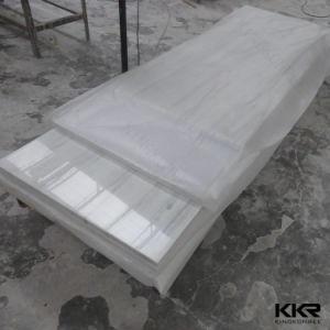изготовленный на заказ<br/> полированной твердой поверхности кухонной мойки острова
