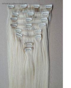 Clip in clip diritta dei capelli peruviani del Virgin delle parti/insieme di estensioni 10 dei capelli umani in capelli umani reali di estensioni dei capelli