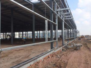 アフリカの前作られた組み立てられた鋼鉄建物