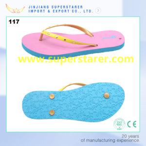 Funky PE Flip Flops pantoufles avec sangle en PVC de décoration