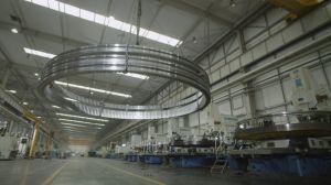 Dispositivo de mesa giratória de tamanho grande engrenagem interna pião rolamentos para Deck Máquina de gruas, a energia eólica e a construção de máquinas