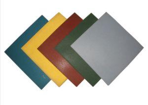 Quadratische/im Freien /Recycle-Gummifliese, bunte Gummistraßenbetoniermaschine