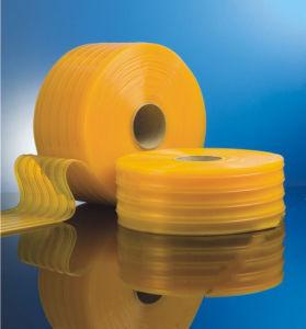 De antistatische Gele Plastic Gordijnen van de Strook van pvc – De ...
