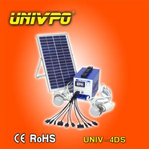 Los pequeños sistemas de iluminación solares domésticos/Kits de iluminación solar (UNIV-4DS)
