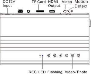 1080P HD más pequeña de 7-24V Digital resistente al agua de la Inspección del tubo de cámara con DVR (fotografía de 5MP 64GB de almacenamiento).