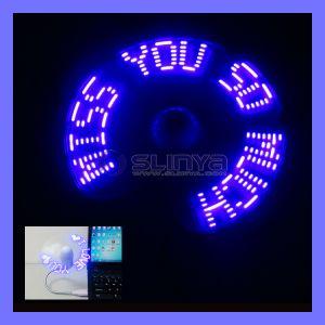 Ventilatore programmabile variopinto del messaggio istantaneo del USB LED
