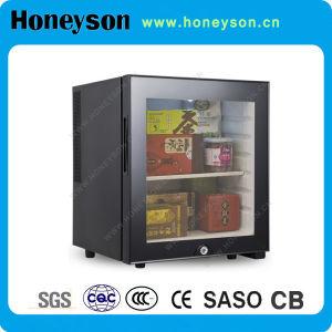 Mini réfrigérateur d'hôtel avec la porte en verre