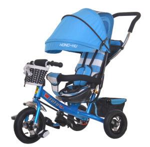 1台の三輪車に付き4台は、ベビーカー、赤ん坊の三輪車、Tricyleの子供のバイクをからかう