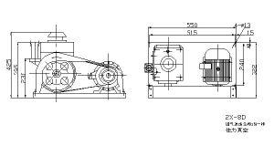 Dreh-Leitschaufel Vakuumpumpe