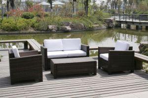 4-PCS Jardin patio de l'hôtel de loisirs de plein air des meubles en rotin en osier (T-081)