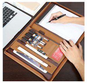 Кожаный портфель решений для бизнеса, личные данные органайзера, папки из натуральной кожи