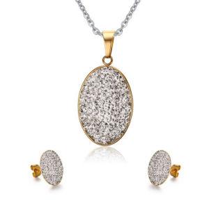 Conjunto de acessórios de moda conjunto de jóias em aço inoxidável