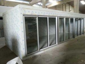 6 стеклянные двери холодильной системы для отображения на замороженные продукты