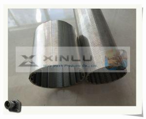 Kreisgrobfilter-Rohr ohne Winkel (v-Drahttyp)