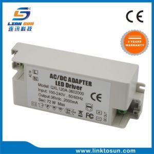 Driver di potere del rifornimento 36V 2A 72W LED della fabbrica della Cina per il LED con il FCC RoHS del Ce
