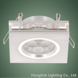 3W LED IP23 Aluminum Fire Rated LED Recessed Downlight