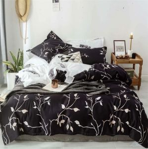 Fabricado na China no mercado grossista de microfibras barata edredão cobrir Bedsheet extras definidos