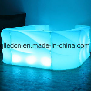 新しい現代Litの上りの波棒カウンターによって照らされるLED家具