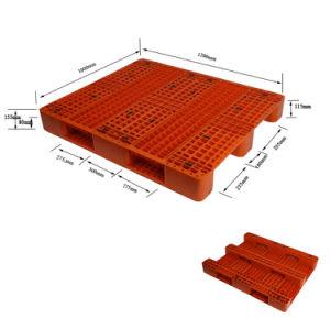 1200*1000 Grandes empilhável Pesado de lado único para venda de paletes de plástico de HDPE