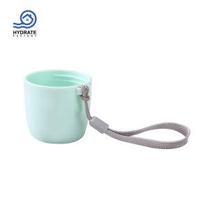 Lindo de acero inoxidable 500ml de agua vacío de doble pared del vaso de deporte