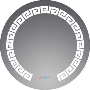 Specchio di alluminio d'argento vestentesi decorativo del LED, specchi chiari della stanza da bagno