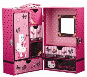 Het roze Leer van de Parel siert de Doos van de Inzameling met Spiegel