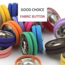24mm Botão tecido prendedores coloridos