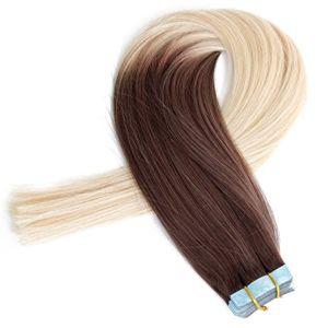 Aviva Tape in Human Hair Extensions 20PCS voor Women Beautry Tape in Hair Extension (av-tp16-4/613)