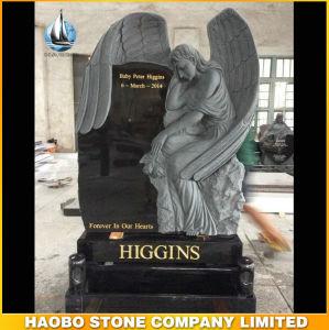 A Irlanda em granito preto estilo Angel memoriais Headstones