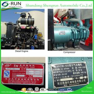 Shengrun 3 차축 유조선 50 톤 대량 분말 탱크 시멘트