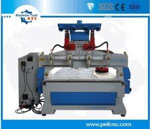 4ヘッド3D木版画CNCのルーター機械