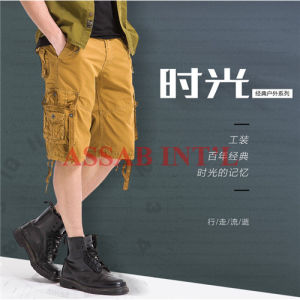 Fornitore superiore dei pantaloni di scarsità della spiaggia del carico della tela di canapa della saia del cotone di svago di modo degli uomini