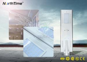 Todo-en-uno el ahorro de energía solar Detección automática de la calle LED lámpara de luz