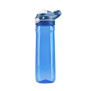 750ml Couleur personnalisée Portable Sport bouteille d'eau en plastique avec poignée