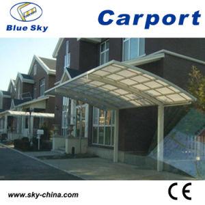 Het Pu Met een laag bedekt Frame en Polycarbonaat Carport van het Aluminium