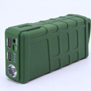Potencia portátil saltar las abrazaderas de batería inteligente motor de arranque con luz LED para emergencia
