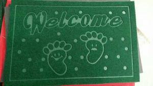 Estilo de repujado Nonwoven colorido Logotipo de la Bienvenida de fibras de poliéster Mat