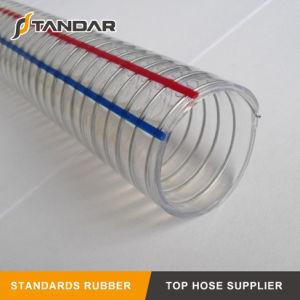Espiral de arame de aço em PVC transparente a mangueira de sucção de água para irrigação