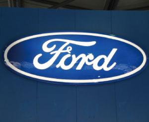 im Freien grosse Größe 3D, die Auto-Vertragshändler-Auto-Firmenzeichen bekanntmacht