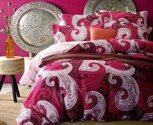 Aquecimento programável de luxo 130gsm roupa de cama com padrões impressos Consolador Definido