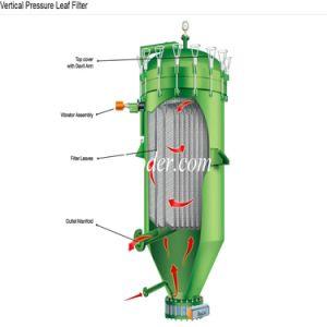 Placa automática tipo filtro de folha de Pressão Vertical hermético