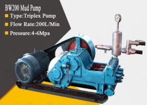 Bw200 Triplex Alta Pressão bomba de lama de chorume de esgoto de perfuração com diesel / Hidráulica / Alimentação Eléctrica