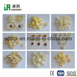 Con sabor a ampliar el tamaño de bocado aperitivos de maíz de maquinaria de producción de alimentos