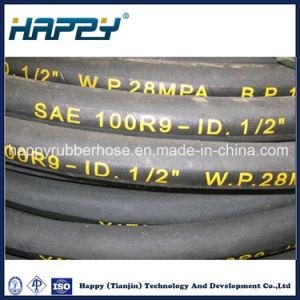 SAE100 R9/Stahldraht des Hochdruck-vier wand sich Gummischlauch