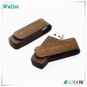 Деревянные поворотный USB флэш-диск с полной емкости (WY-W09)