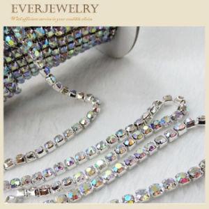Цепь чашки кристаллический Rhinestone ранга AAA латунная в крене для платья, ботинок, ожерелья, браслета