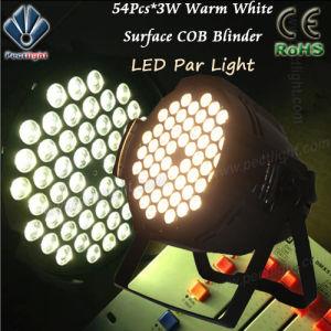 またはPure White 54PCS*3W LED PAR Can Church Wedding Light暖めなさい